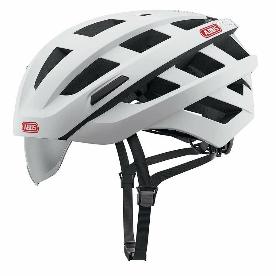 New Abus In-Vizz Cycling  Helmet Large 58-62cm White Integrated Visor  online outlet sale
