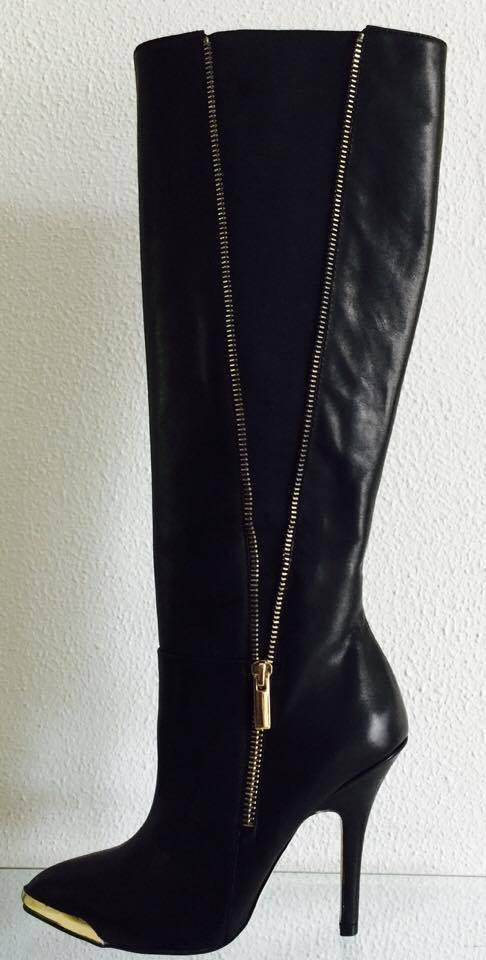 Venta Saks Fifth Avenue Rojo Negro Negro Negro Cuero Nappa Luxe Hwan Elástico botas  475 8.5 d3afbe