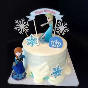 Remarkable Disney Frozen Anna Elsa Cake Topper Figure Statue Birthday Cake Funny Birthday Cards Online Overcheapnameinfo
