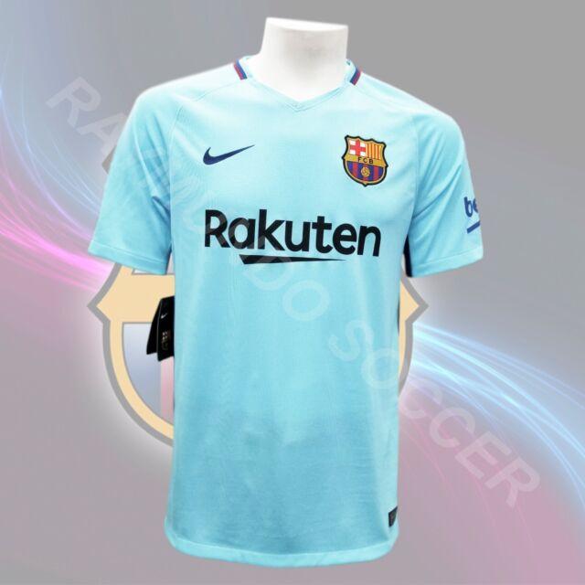 d8e94cc9f Nike FC Barcelona Official 2017 2018 Away Soccer Football Jersey M ...