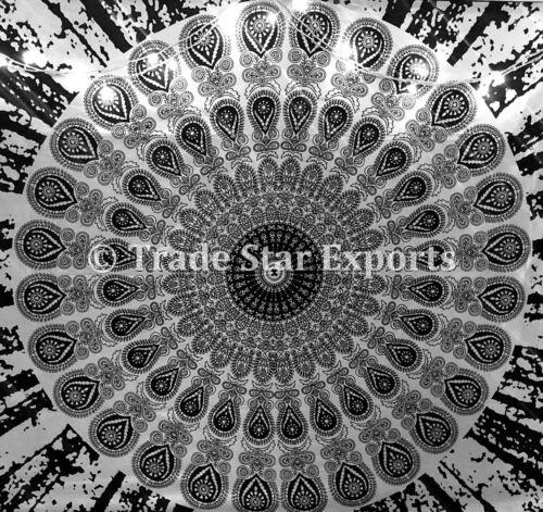 Mandala Tapisserie Noir et Blanc Wall Hanging Bohemian Hippie Couvre-Lit Jeter
