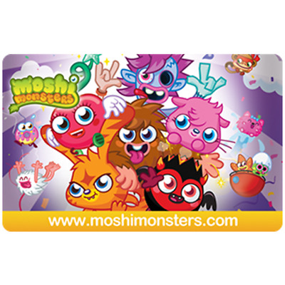 Mind Candy Moshi Monster Gift Card - $5.95 $15.95 or $29.95 - Email delivery