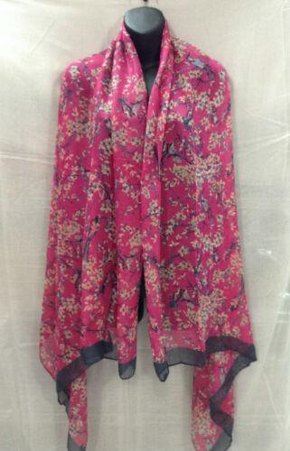 Fashion Womens Animal Birds Flowers Print Long Soft Scarf Lady Shawl Wrap Stole