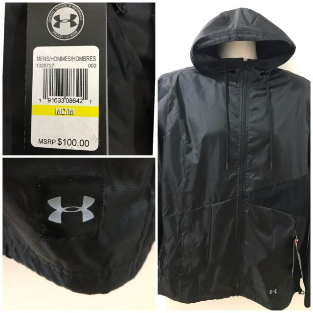 low priced b3014 efdae Under Armour Mens Black M Sportstyle Colorblocked Windbreaker  100 NWT   1320727