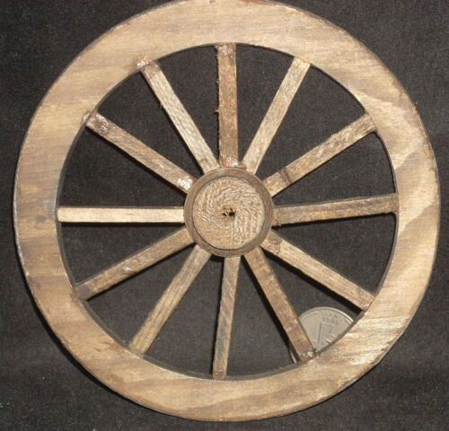 Dollhouse Miniature Wagon Wheel Approx 4 Mexican Hand Made #WO1925 5 inch