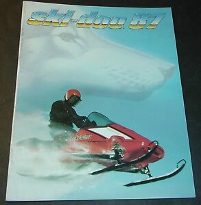 Image Is Loading 1987 SKI DOO SNOWMOBILE SALES BROCHURE 24 PAGES