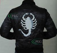 Black Drive Scorpion Rider Trucker Ryan Gosling Satin Jacket Embroidred Scorpion