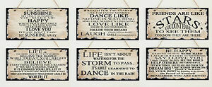 Shabby-Hanging-Wooden-Plaque-Sign-Dance-Sunshine-Love-Vintage-Life-Quotes-Chic