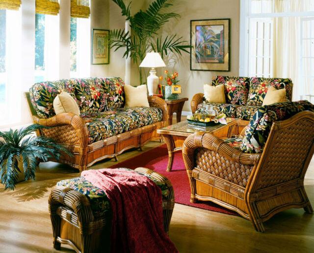 Rattan Man Kingston Reef Indoor Wicker 5 pc. Living Room Set by American  Rattan