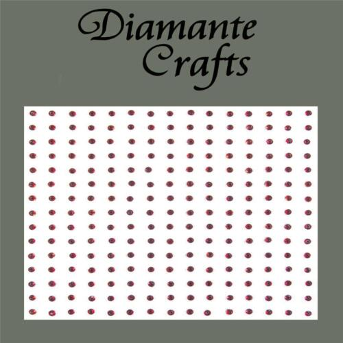225 x 2mm Burgundy Diamante Self Adhesive Rhinestone Craft Embellishment Gems