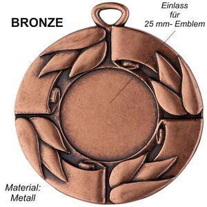 10er-Set-50mm-Medaillen-D28C-Bronze-aus-Metall-mit-Emblem-amp-Band-nur-9-95-EUR