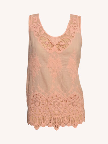 Ladies Lace Tank Top Sleeveless T-shirt Vest Women/'s Summer Embroidery Blouse