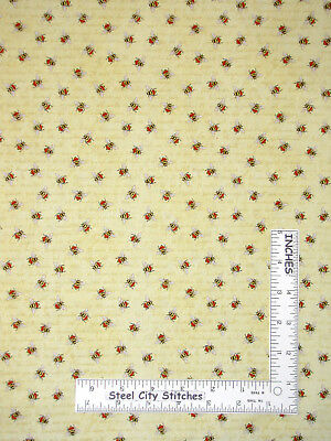 Bumble Bee Hive Garden Stripe Cotton Fabric Wilmington Bee/'s Life By The Yard