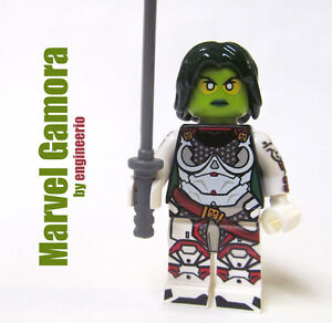 LEGO Custom - Armored Gamora - Super heroes Marvel 76081 guardians of the galaxy