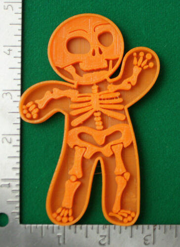 Halloween Gingerbread Skeleton Novelty Cookie Biscuit Fondant Cutter 3D Printed