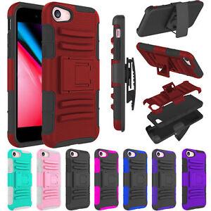 For-Apple-iPhone-8-8-Plus-Case-Hybrid-Belt-Clip-Hard-Defender-Slim-Armor-Cover