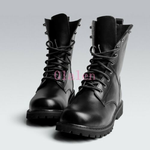 Combat Men British High Desert Bottines Top Army Leather Leather Bottes rrSq5HwOx