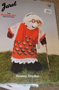 Jarol knitting pattern e996 postman pat doll granny dryden 16 ebay image is loading jarol knitting pattern e996 postman pat doll granny dt1010fo