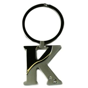 Alphabet-Initial-Key-Ring-With-Crystal-Inserts-Letter-K
