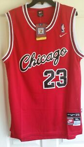 newest 874e7 6a64c Details about NWT MICHAEL JORDAN #23 CHICAGO BULLS RED ROOKIE THROWBACK  JERSEY EXTRA LARGE XL