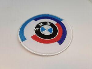 patch ecusson thermocollant brodé 8cm BMW blanc