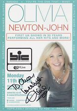 OLIVIA NEWTON-JOHN SIGNED TOUR FLYER 2013. PROOF , AUTOGRAPH, (GREASE)