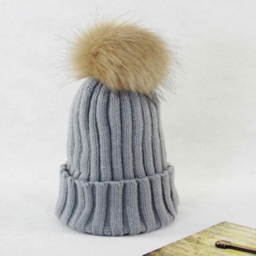 1,2,4 Dames Beanie avec grande waschbärpelz pompon hiver tricot bonnet pompon Bonnet