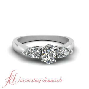1-Carat-Oval-Shaped-SI2-D-Color-Diamond-3-Stone-Tapered-Engagement-Ring-14K-GIA
