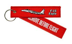Remove-Before-Flight-F-15-Eagle-Schluesselanhaenger-Deutscher-Haendler