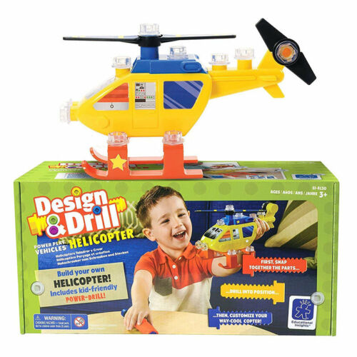Learning Resources Design /& Drill Power Play Vehicles Helicopter 4130