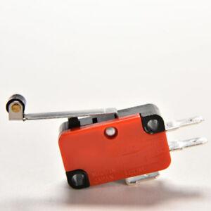 2 PCS Micro Switch Spdt Hinge Roller Lever 15A V-156-1C25 In UK