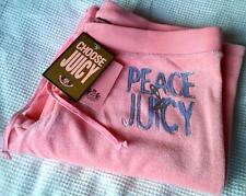 JUICY COUTURE PINK CHIFFON PEACE FOIL TERRY SWEATPANTS L 12 14 £105!