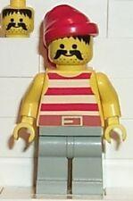 LEGO 6278 - PIRATES - White Stripes Shirt, Light Gray Legs - MINI FIGURE