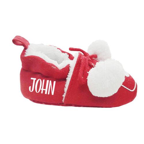 Personalised 1st Xmas 2018 Reindeer Baby PJ/'s Top Bottoms Hat Shoe Mittens 0-6M