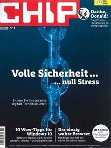 CHIP mit DVD, Heft September 9/2018: Volle Sicherheit, null Stress  + wie neu +