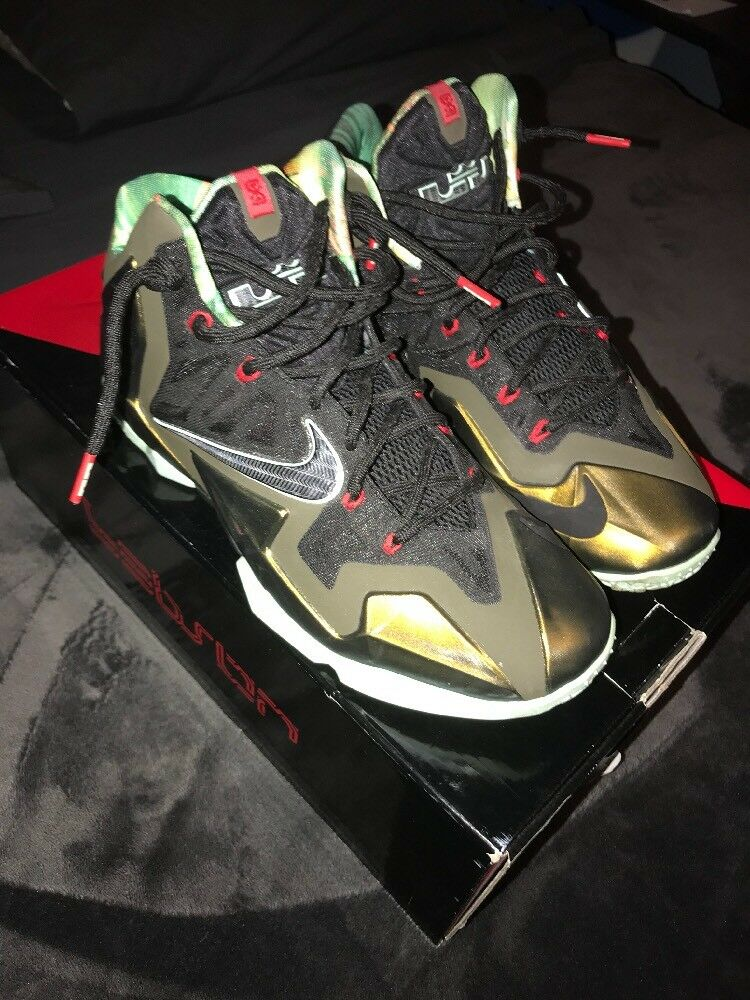 Nike Lebron 11 XI Kings Pride Parachute 10 Gold 616175-700 Men's Size 10 Parachute 39a848