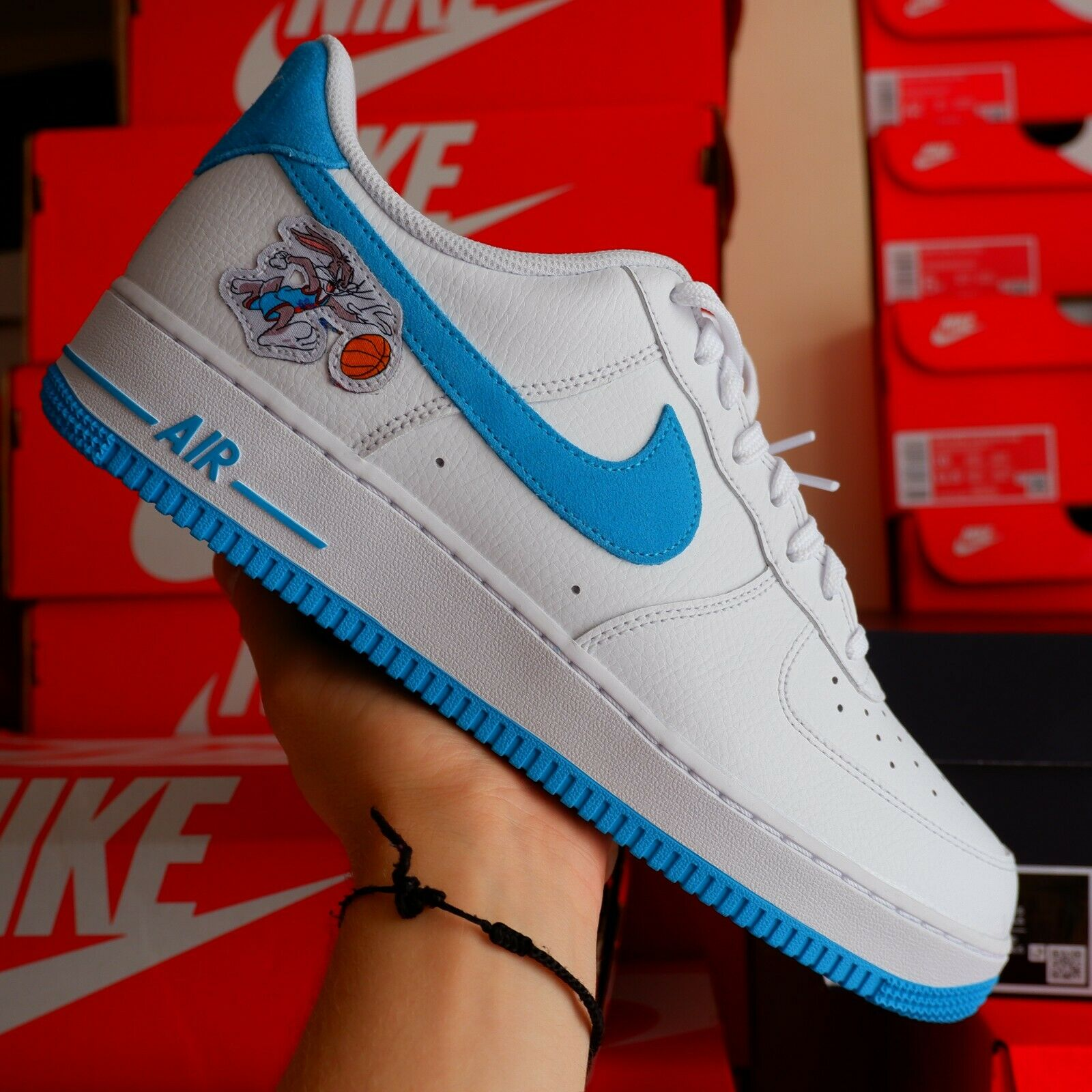 NIKE AIR FORCE 1 SPACE JAM 2 HARE UK8.5 US9.5 ✅✅ IN HAND BRAND NEW✅✅✅✅ 2✅7