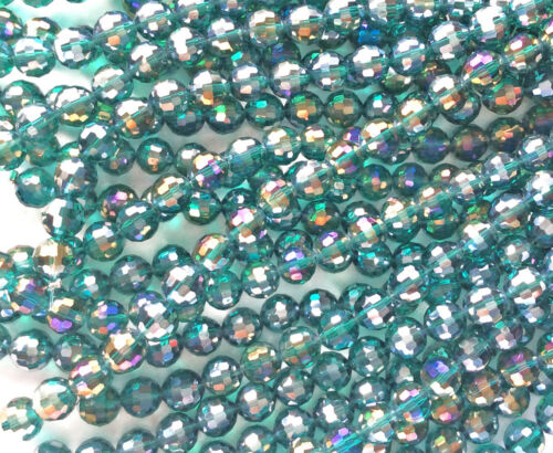 Green Chinese Crystal Faceted Round Glass Bead 8mm You Pick Color Q2 Strands