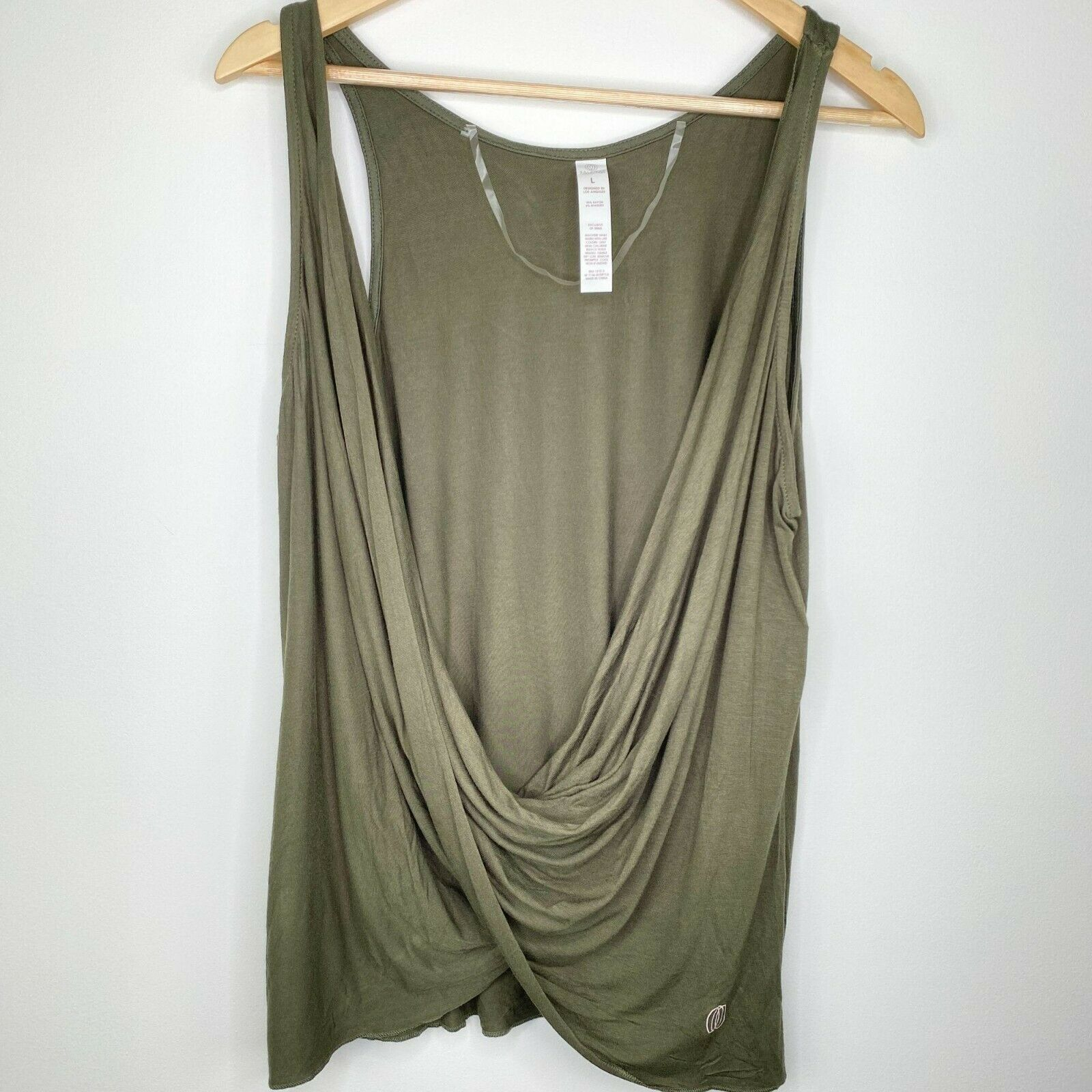 Balance Collection Forest Night Green Tank Top Womens Size Large L