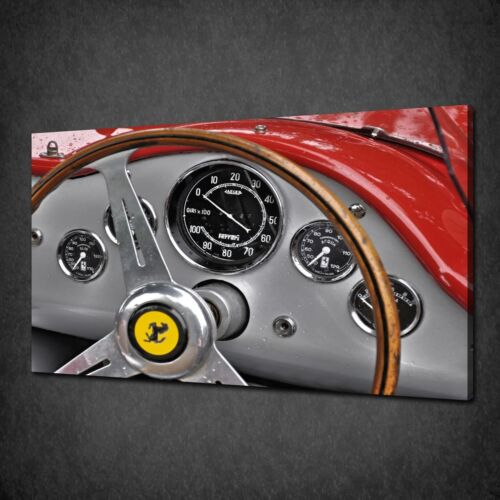 VINTAGE FERRARI DASHBOARD CAR MODERN CANVAS WALL ART PRINT PICTURE READY TO HANG