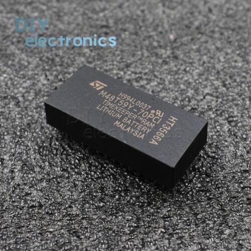 5PCS M48T59Y-70PC1 M48T59Y 48T59Y DIP-28 IC 64 Kbit 8Kb x8 TIMEKEEPER SRAM
