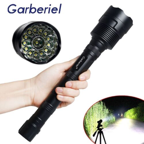 Tactical 90000Lumen 14x T6 LED 18650 Rechargeable Super Bright Flashlight Torch
