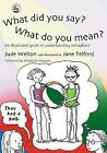 What Did You Say? What Do You Mean?: An Illustrated Guide to Understanding Metaphors by Jude Welton (Paperback, 2004)