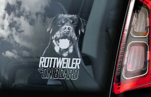 Rottweiler-On-Board-Auto-Finestrino-Adesivo-Rottie-Beware-di-Cane-Firmare