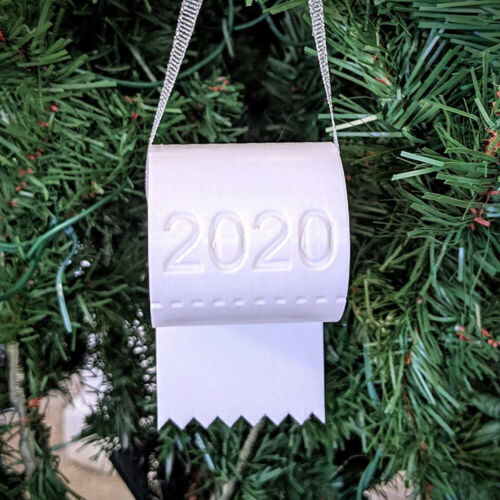 2020 Xmas//Christmas Tree Hanging Ornaments Toilet Paper Family Decor Lucky Gift