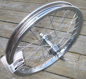 Wheel-Rear-Bicycle-16-x-1-75-STEEL-BMX-Chrome-Plated-Wheel-28-Spoke-Freewheel