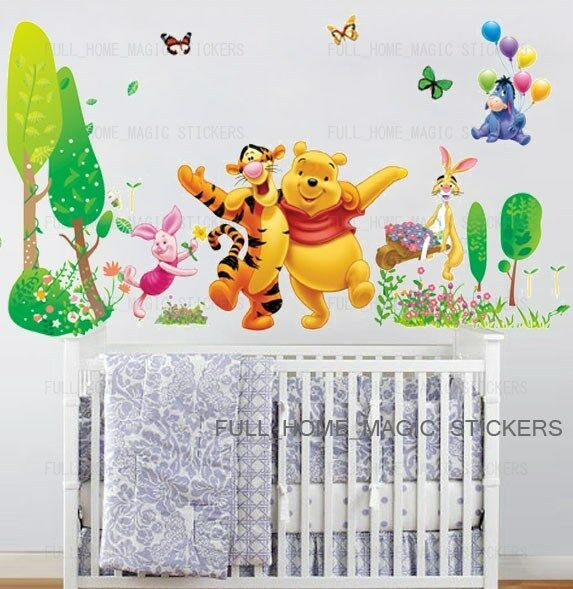 Removable Xtra Large WINNIE THE POOH Trees Wall Stickers Kids Baby Nursery Decor