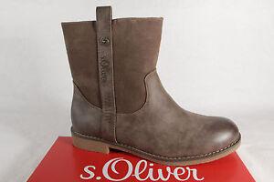 s-Oliver-Botas-mujer-botines-botas-botines-pimienta-NUEVO