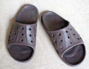 610a72c7a23 CROCS Baya Slide Sandals Unisex Relaxed Fit Mens 7 Womens 9 Brown
