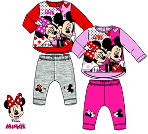 80d759e0eb8a8 Baby Girls MINNIE MOUSE Disney Character Tracksuit Outfit   Sets